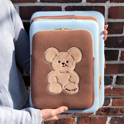 빵곰이 테블릿 & 랩탑 파우치