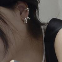 [투웨이] 미니 큐빅 패션 브랜드 귀걸이