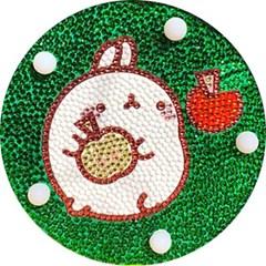 몰랑 사과 (무드등) 보석십자수 14.7x14.7