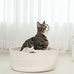 펫트리움 고양이 바구니 하우스 고양이집 숨숨집 하우스