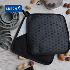 루치 백금 실리콘 소재 냄비받침 겸용 주방용 장갑 2pcs