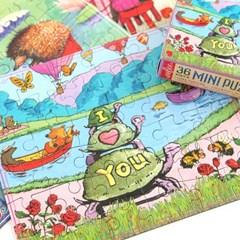 [이부] 아이러브거북이 36피스 미니퍼즐 3세이상