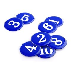 에폭시 원형 번호 숫자 스티커 10개입 / 파랑 1110