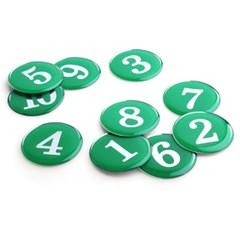 에폭시 원형 번호 숫자 스티커 10개입 / 녹색 1190