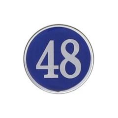 에폭시 원형 번호 숫자 스티커 10개입 / 중형 파랑 4841