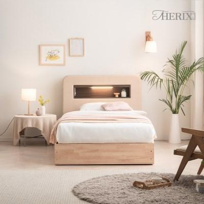 더릭스홈 마르스 LED조명+콘센트 침대프레임 슈퍼싱글(SS)