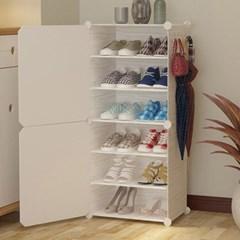 DIY 원목무늬 도어 수납 진열대 신발장(44x94cm)