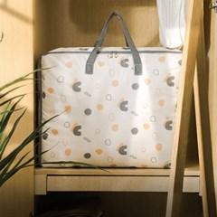 의류 이불 정리함 짐가방 발자국 프린팅 스퀘어백