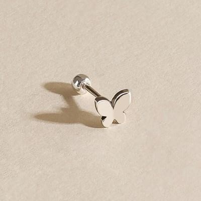 실버925 미니 데일리 플랫 나비 은 피어싱 귀걸이