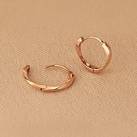 [14k Gold] '베이직한 아름다움' 에르디 원터치 링 귀걸이