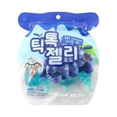 틱톡젤리 포도 [160g] 톡톡 재미있는 짜먹는 젤리
