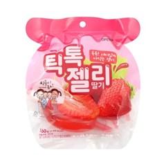 틱톡젤리 딸기 [160g] 톡톡 재미있는 짜먹는 젤리