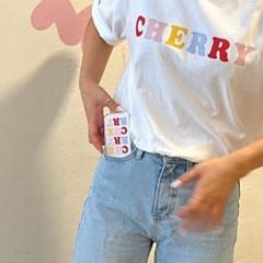 체리 레터링 티셔츠_(2706031)