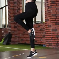 여자 운동 레깅스 9부 힙커버 요가복 필라테스 블랙B