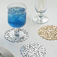 리시안 플라워 고급 티코스터 컵받침 4P세트_(1946167)
