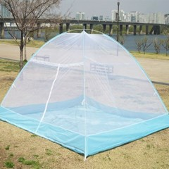 원터치 간편설치 모기장 텐트 특대형 7~8인용 방충망 [220*260*160]