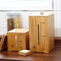 심플 원목 투명창 쌀통 보관함 5kg