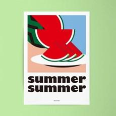 썸머 썸머 M 유니크 인테리어 디자인 포스터 여름 과일 수박