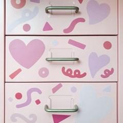 핑크하트픽 스티커 시트지