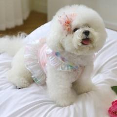 로즈샤삔 리본 강아지 머리삔 펫츠앤미