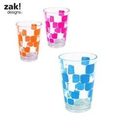 [잭디자인] 사각 물방울 컵 블루 BPA free_(719068)