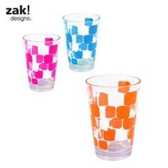 [잭디자인] 사각 물방울 컵 오렌지 BPA free_(719067)