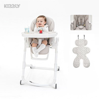 키즐리 하이체어 아기 식탁의자+다이노 라이너 세트