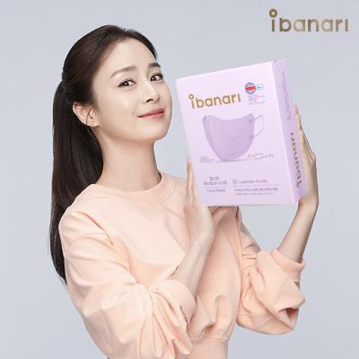 아이바나리 김태희 마스크 라벤더퍼플 중형 1매포장 30개