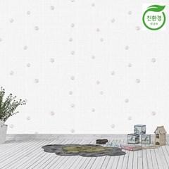 크레파펠 접착식 실크벽지 12.5M / 타탄 입체꽃핑크