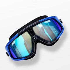 아로아 미러코팅 고글 물안경(블루)