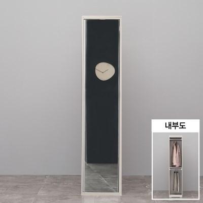 가구데코 플랫 400 거울옷장 BK2007
