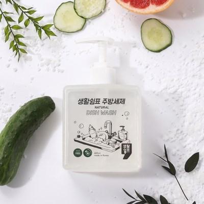 생활쉼표 천연주방 세제 본품 400ml 1종 주방 세제