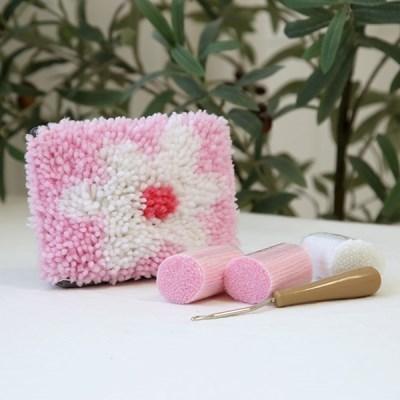 스킬자수 DIY 파우치만들기 플라워 - 핑크