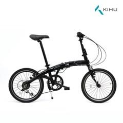 키후 오로라 리얼블랙 미니벨로 20인치 접이식 자전거 알로이 7단
