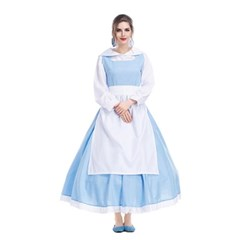 성인 벨 하녀복 드레스 옷 의상 코스프레 2size 미녀와야수 할로윈