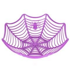 할로윈 거미줄접시 퍼플