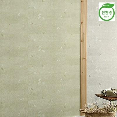 크레파펠 접착식 실크벽지 2.5M/라이즈 민들레올리브