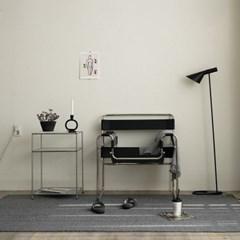 모듈 스타일 먼지없는 거실러그 카펫 방바닥매트(그레이100x140)