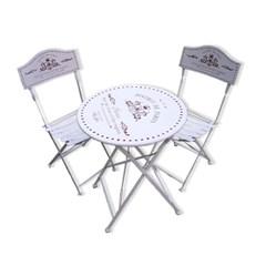 빈티지 아이보리 폴딩 테이블 세트