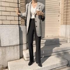여성 데일리 슬랙스 여름 팬츠 바지 비미 세미 부츠컷
