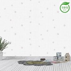 크레파펠 접착식 실크벽지 2.5M /입체꽃라이트그레이
