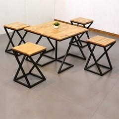 차 한잔의 여유 참죽 원목 테이블 의자 세트 660