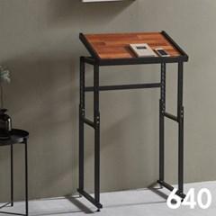 차 한잔의 여유 철제 멀바우 원목 테이블 640