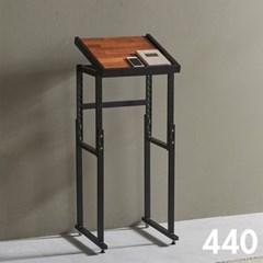 차 한잔의 여유 철제 멀바우 원목 테이블 440