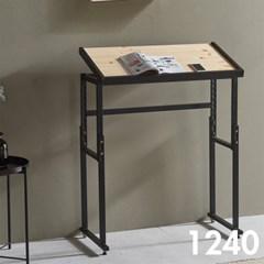 차 한잔의 여유 철제 원목 테이블 1240