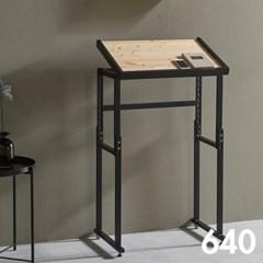 차 한잔의 여유 철제 원목 테이블 640
