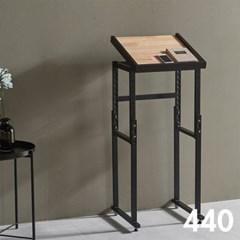 차 한잔의 여유 철제 원목 테이블 440