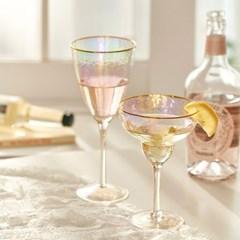 오로라 골드라인 와인잔