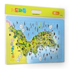 [퍼즐라이프] 우리나라지도 판퍼즐 80피스