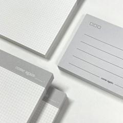 [또들리상점] 회색감성 필기 세트, 떡메모지 세트